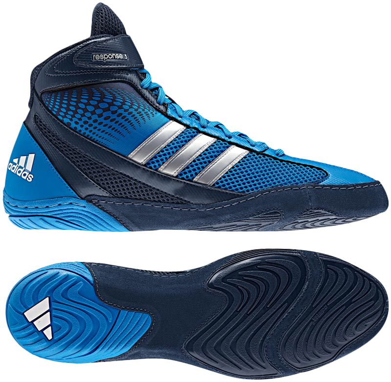 Adidas Response 3.1 Wrestling Shoes, color: Blue/Navy/Silver ...