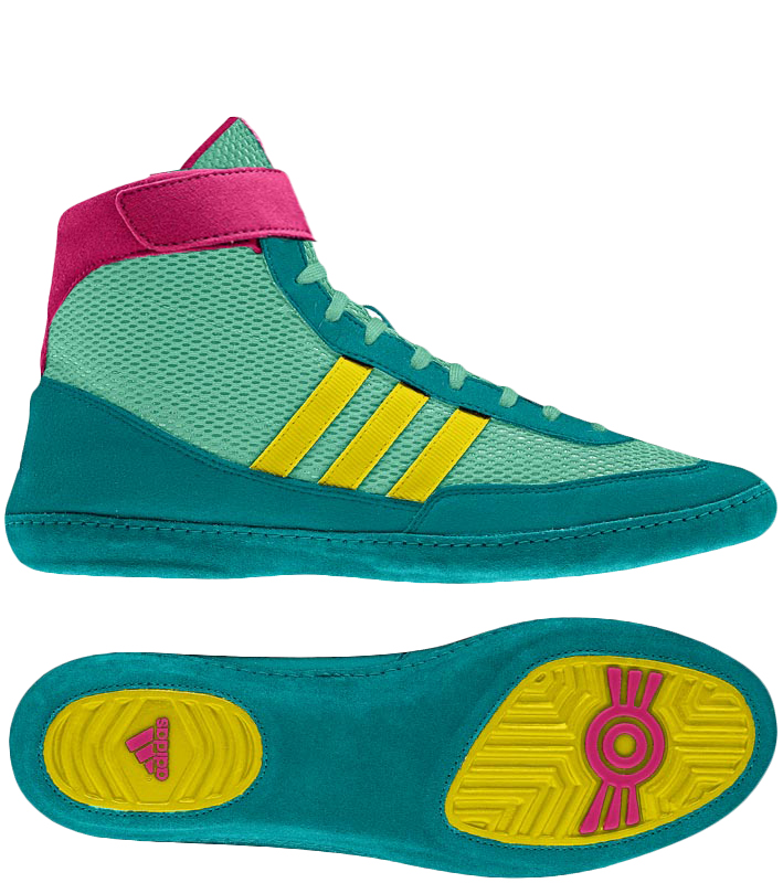 huge discount fcd03 c0143 Adidas Combat Speed 4 Wrestling Shoes, color  Teal Yellow Pink